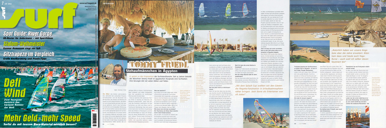 surf 7/13 - Artikel - 25 Years ProCenter Tommy Friedl