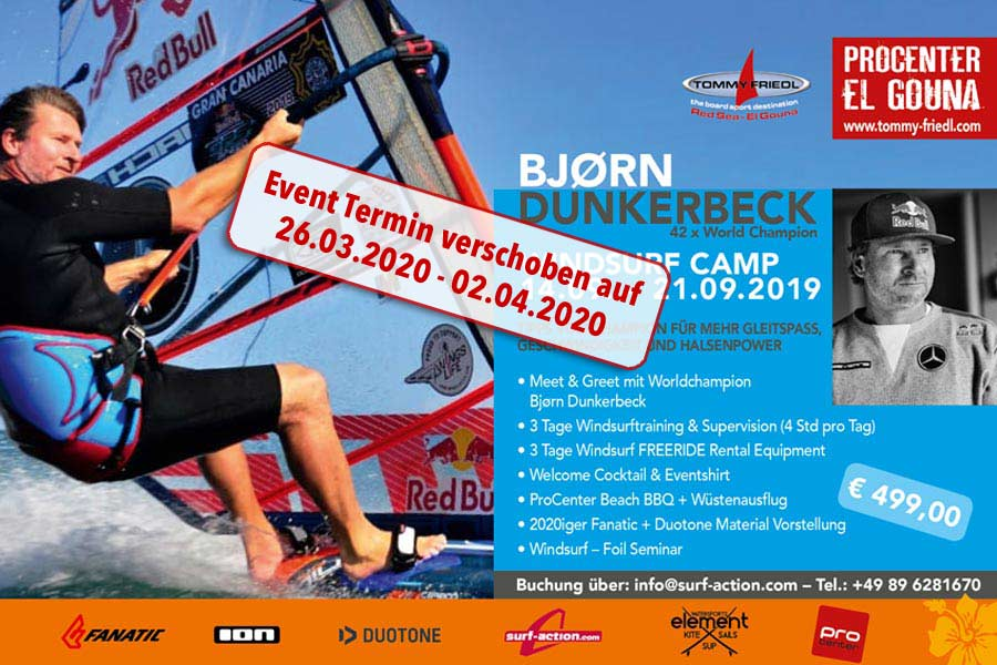 Surfcamp am Procenter Tommy Friedl mit Bjorn Dunkerbeck
